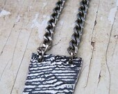 Lace Imprinted Metal Necklace