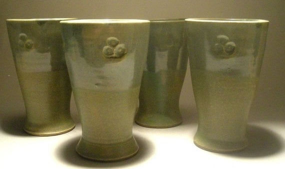CLEARANCE SALE and FREE shipping - Set of 4 Juice Cups by Jon Whitney