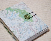 The Perfect Travel Book- map covered blank journal