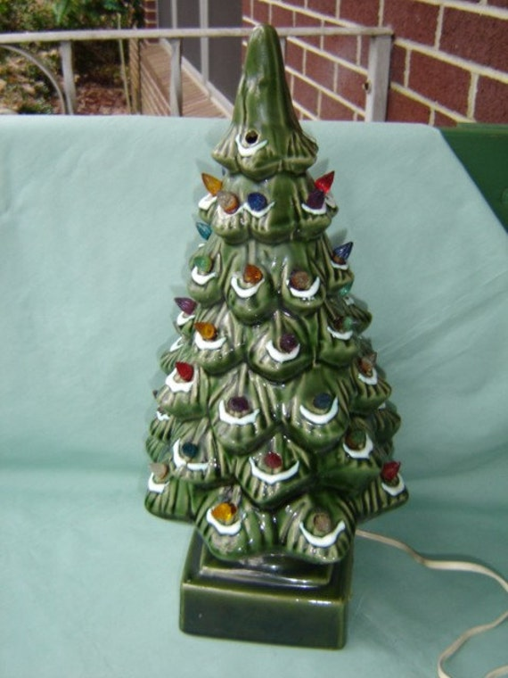 Vintage Lighted Ceramic Christmas Tree