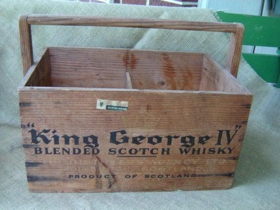 Vintage Scotch Whiskey Whisky Wood Crate Scotland