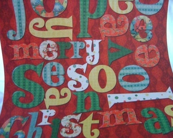 Retro Christmas paper crafting paper letters Scrapbooking phrases red green Journaling supplies large letters Joy Merry Season Peace Love