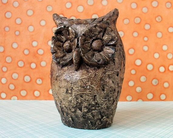 Vintage ceramic owl figurine