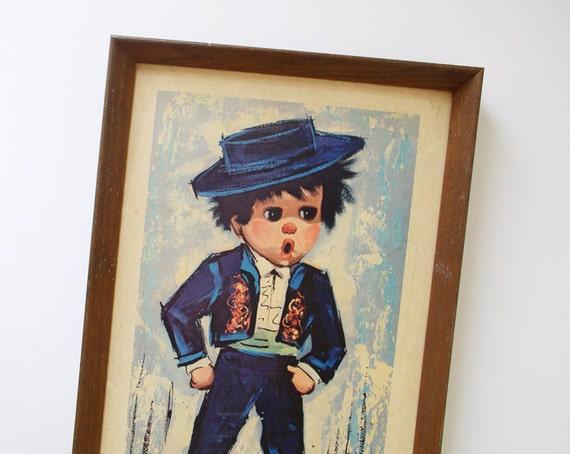 Matador boy wall-hanging illustrated by Brett