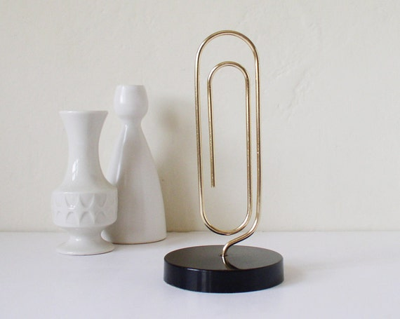 Giant paper clip paper holder photograph holder