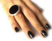 The Black Onyx and Silver Ring