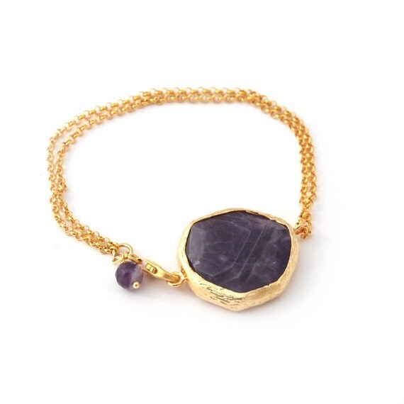 Purple Amethyst Stones Bracelet