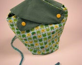 Happy Frogs Knitting Project Bag