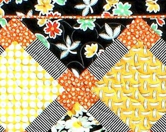 HOT SPOTS Quilt Pattern - B J Q 112 --- Printable Download Pdf E-Pattern Diy Free Shipping Digital Pattern Yellow Orange Black White