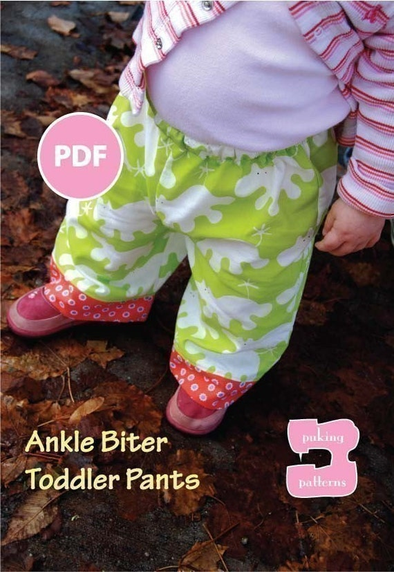 New Year's Sale - Ankle Biter Sewing Pattern PDF--Dress your baby in style