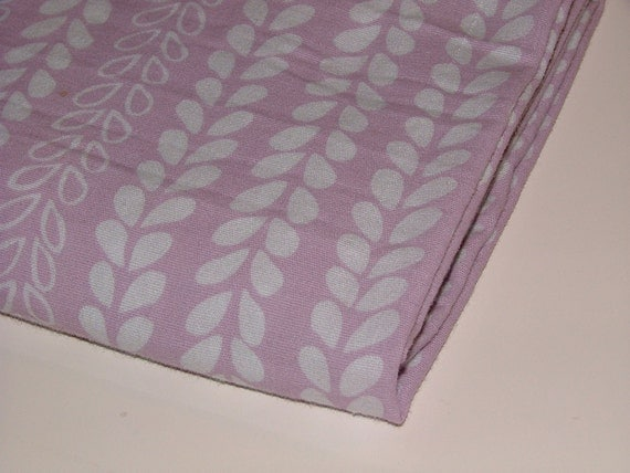Leafy Lilac - 1 yard upcycled linens fabric