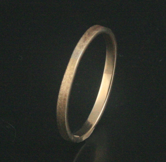 Skinny Stacker 2mm wide--Solid 14K Gold Flat Edge Stacking Ring or Wedding Band in yellow, rose or white gold--Custom made in YOUR size