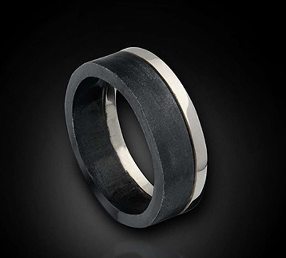 the tuxedo ring modern urban wedding modern mens wedding bands zoom