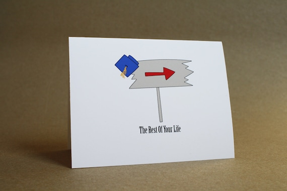 Graduation Card - new graduate, college, high school, diploma, congratulations, blank inside, greeting card