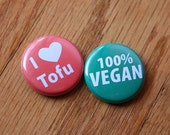 Set of two vegan buttons