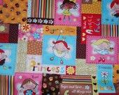 Sugar Plum Princess Fairy Cotton Fabric 1 yard