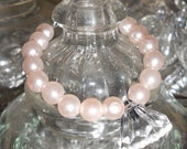 Pink Pearl Chunky Diamond Bracelet