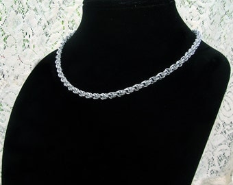 Extra-fine Double Spiral Chainmaille Necklace