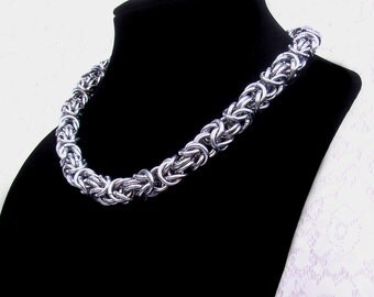 Chainmaille Necklace, Heavy Byzantine