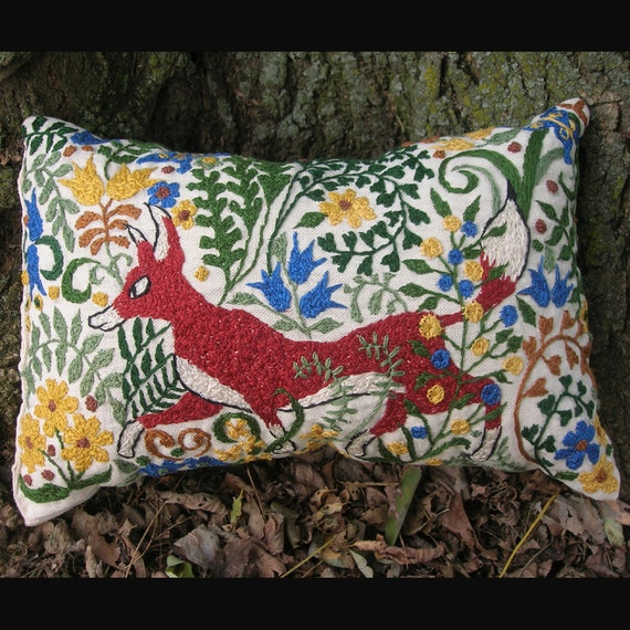 The Red Fox Pillow