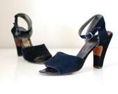 vintage 1940s Enchanted April Sandals (40s) size 6.5 7