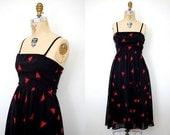 1970s Albert Nipon dress / 70s sun dress / Red Triangles
