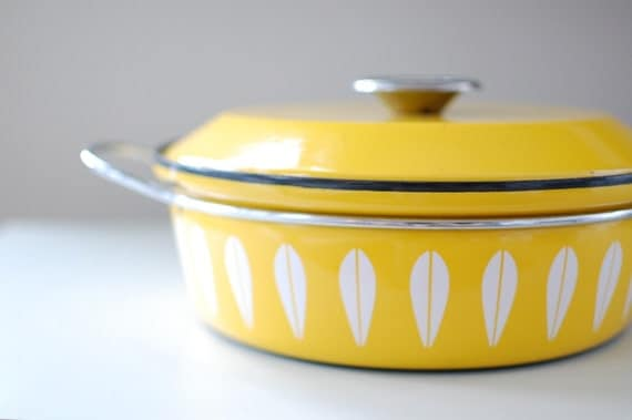 cathrineholm Norway Yellow Lotus Casserole Dish