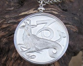 CAPRICORN .. Zodiac .. Vintage Capricorn Pendant ..  Medallion .. Coin .. Stamping .. Unique ..AWESOME