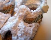 Crochet White Sandals