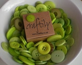 Lime Green Buttons - 20g