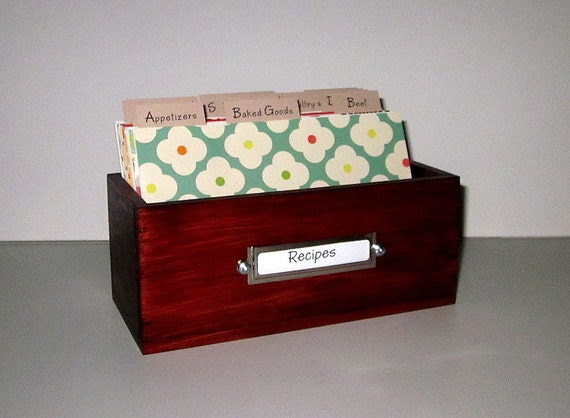 Recipe Box 4 by 6 inch with Fun Colorful Dividers...Ships Immediately