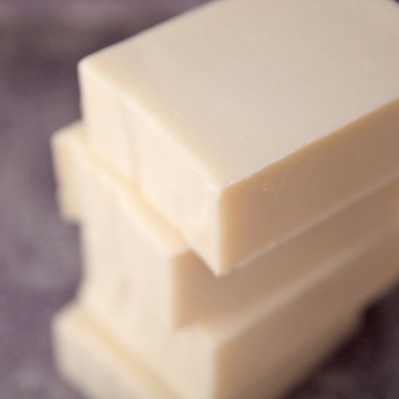 Just Soap Unscented All Natural Castile Coconut Milk  Handmade Soap