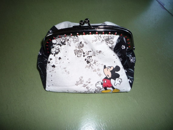 handpainted mickey coin purse