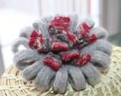 Repurposed Wool Felted Flower Pin