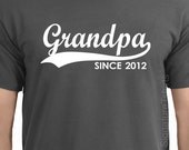 GRANDPA Since (ANY YEAR) T-Shirt tshirt - Personalized Father's Day tshirt Christmas gift grandparent Granddad to be Mens T-Shirt tee shirt