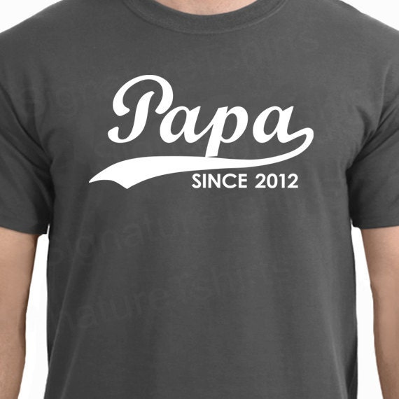 papa since personalized with any year mens tshirt shirt. Black Bedroom Furniture Sets. Home Design Ideas