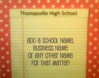 PERSONALIZED NOTEPAD 8.5 x 11