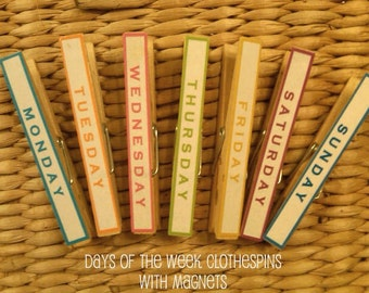 Days of the Week Clothespins