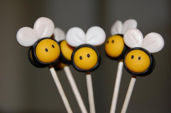 Custom Bumblebee Cupcake Toppers