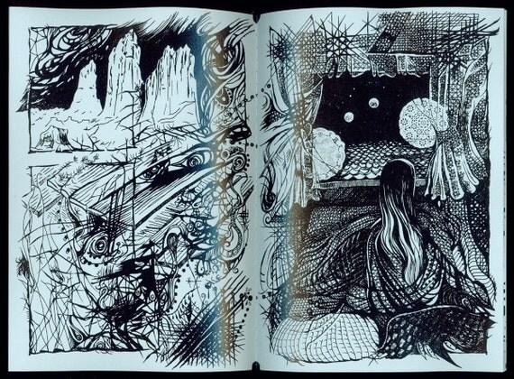 W-LB-G-B-B-G-LB-W / Light Blue - Doily (Art Book - Comic Book)