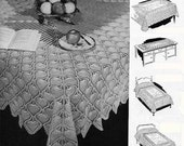 1944 Crochet Pineapple Linens - Multi size Tablecloths