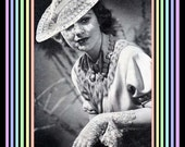 1936 Digital Crochet Pattern - Lace Hat and Gloves