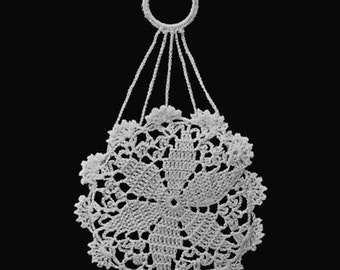 1915 Digital Crochet Pattern - Star Finger Purse