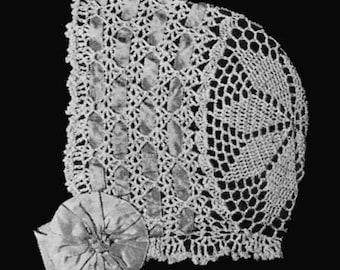 1915 Star Crown Baby Bonnet Crochet Pattern