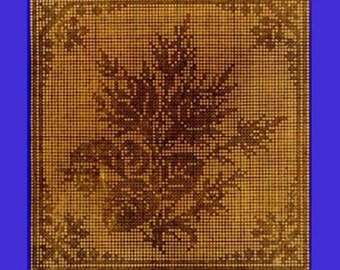 1909 Rose Bud Filet Crochet Pattern