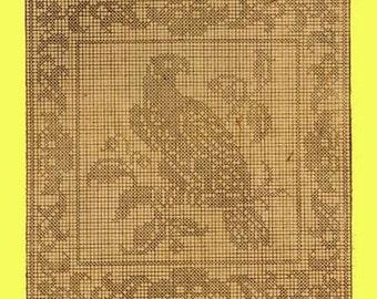 1909 Falcon Filet Crochet Pattern