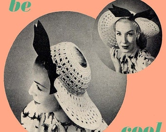 1947 Crochet Picture Hat Pattern