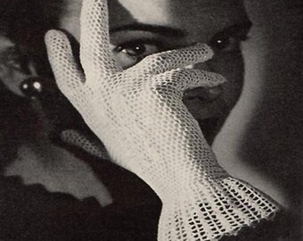 1944 Crochet Lace Gloves Pattern