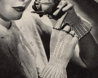 1944 Crochet Lace Mitts
