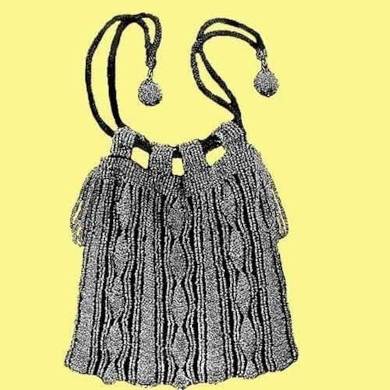 The Wellesley Vintage Bead Knit Purse Pattern